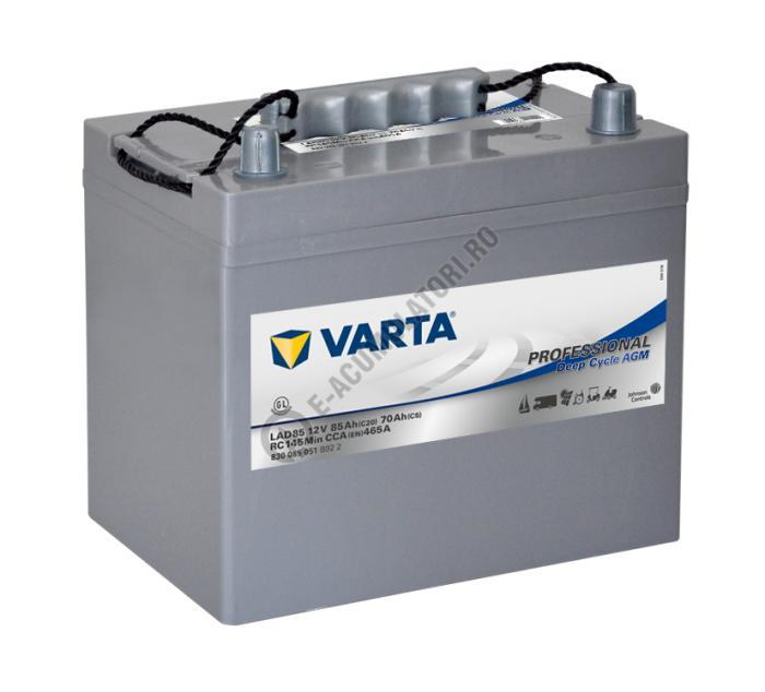 Baterie Varta Professional DC AGM LAD85 12 V 85 Ah cod 830085051B922-big