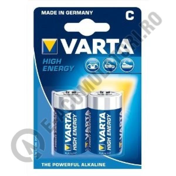 Baterii alcaline Varta High Energy C,R14, blister de 2 buc-big