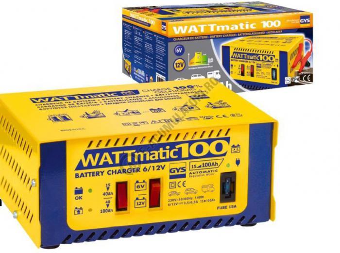 Incarcator si redresor PROFESIONAL automat 6/12V GYS WATTMATIC 100-big