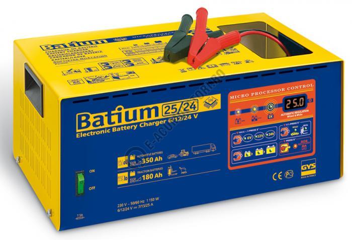 Incarcator si redresor PROFESIONAL cu MICROPROCESOR 6/12/24V GYS BATIUM 25-24-big