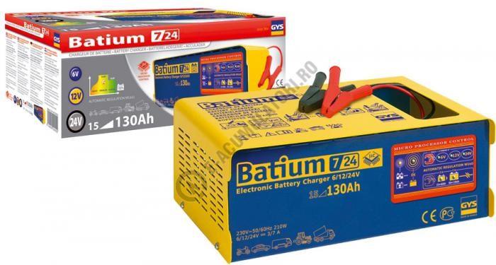 Incarcator si redresor PROFESIONAL cu MICROPROCESOR 6/12/24V GYS BATIUM 7-24-big