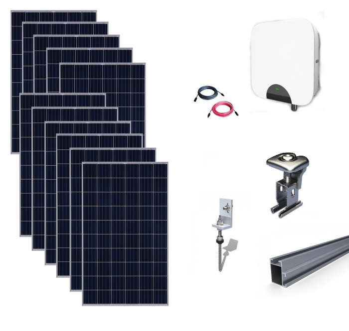 Kit Fotovoltaic On-Grid 3kWp - 12 Panouri Policristaline 275W #casaverde2019-big