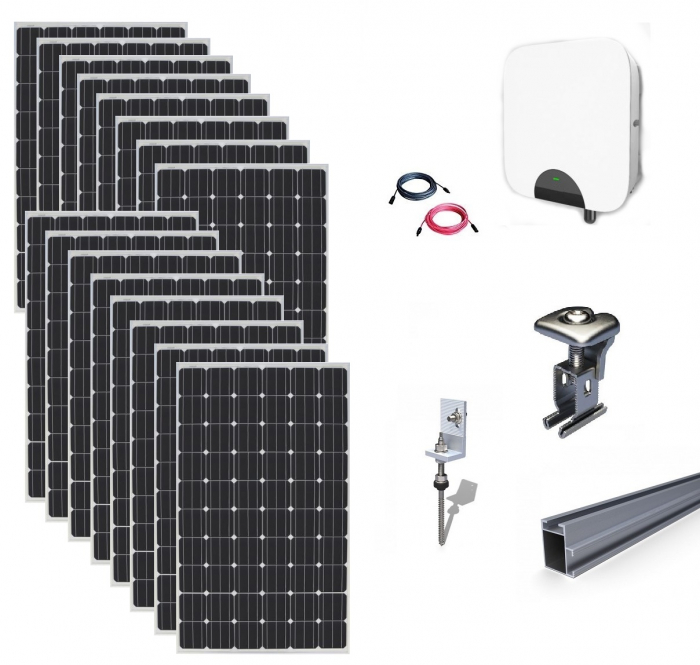Kit Fotovoltaic On-Grid 5kWp - 16 Panouri Monocristaline 315W-big
