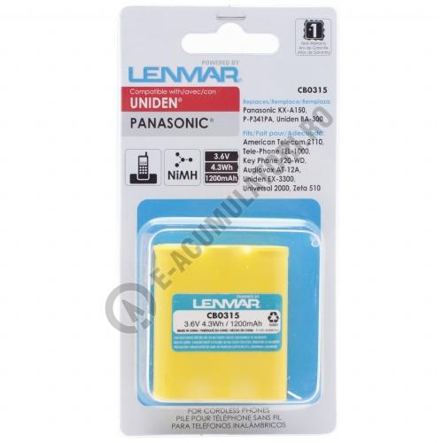 Lenmar Replacement Battery for Cordless Phones using 3.6V 700mAh Nickel Cadmium-big