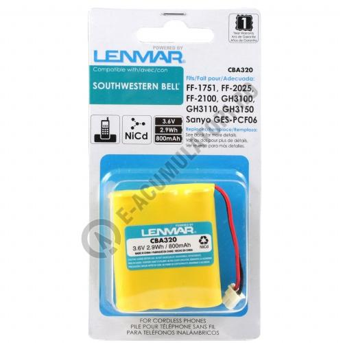 Lenmar Replacement Battery for SW Bell FF Series Cordless Phones (White Connector)-big