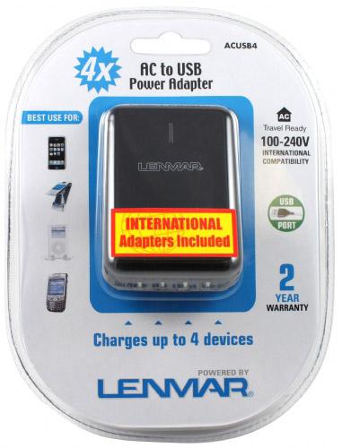 Adaptor Lenmar pentru 4 dispozitive USB.-big