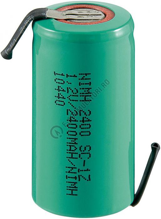 Acumulator Sub-C Goobay 2400 mAh 1.2V Ni-Mh cu lamele lipire cod 23368-big