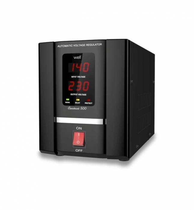 Stabilizator automat de tensiune cu servomotor Well 1000VA/600W AVR-SRV-CONSTANT1000-WL-big