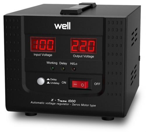 Stabilizator automat de tensiune cu servomotor Well 1000VA/600W AVR-SRV-XTREME1000-WL-big