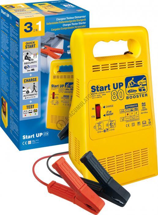 Starter, incarcator si tester 12V GYS START UP 80 cod 024922-big