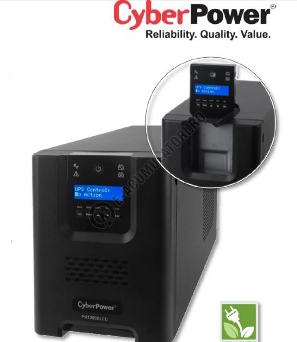 UPS Cyber Power PR1000ELCD Line-Interactive 1000VA 700W AVR, LCD Display, 8 IEC OUTLETS, USB & Serial port-big
