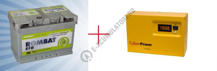 UPS pentru centrale termice Cyber Power CPS600E 600VA 420W cu baterie ROMBAT EFB75-big