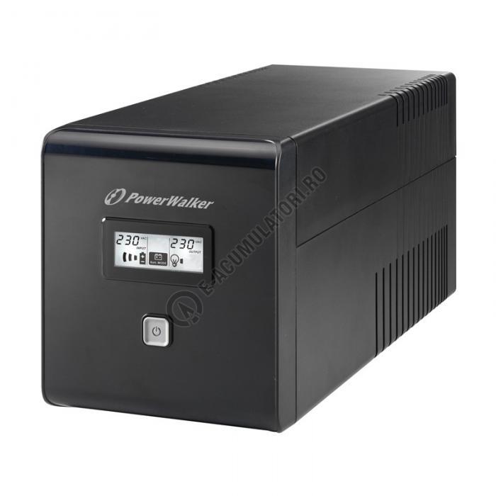 UPS Powerwalker line-interactive 1000VA/600W, 2xShuko, 2x12V/7Ah VI1000LCD-PW-big