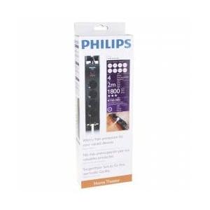 Prelungitor cu protectie Philips 4 prize, 2 m (152-090)1