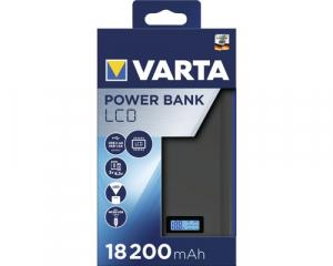 Baterie externa Varta 18.200mAh, ecran LCD, culoare antracit 579720