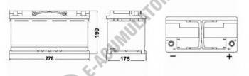 Acumulator Auto Exide AGM 70 Ah cod EK700 START-STOP PLUS1