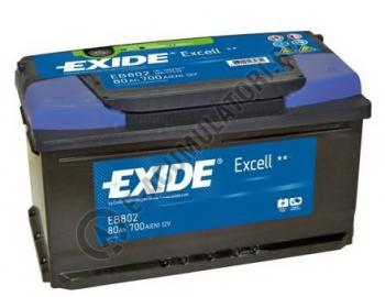 Acumulator Auto Exide Excell 80 Ah cod EB8020