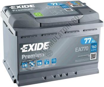 Acumulator Auto Exide Premium 77 Ah cod EA7702