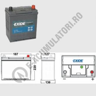Acumulator Auto Exide Premium Asia 38 Ah cod EA3861