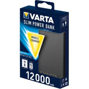Acumulator extern Varta Slim 12000mAh USB-A si USB-C Litiu-Polimer0