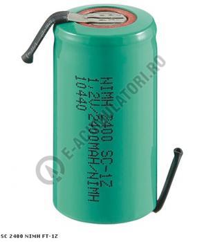 Acumulator Sub-C Goobay 2400 mAh 1.2V Ni-Mh cu lamele lipire cod 233681