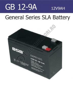 Acumulator VRLA BSB 12 V 9 Ah cod GB12-90