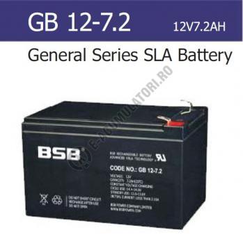 Acumulator VRLA BSB 12V  7.2 Ah cod GB12-7.20