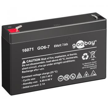Acumulator VRLA Goobay 6V 7Ah GO6-7 cod 160710