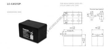Acumulator VRLA Panasonic 12V 12Ah cod LC-CA1212P11