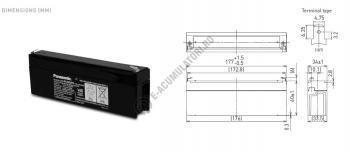 Acumulator VRLA Panasonic 12V 2,2 Ah cod LC-R122R2PG (F187)1
