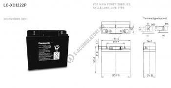 Acumulator VRLA Panasonic 12V 22Ah cod LC-XC1222P1
