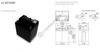 Acumulator VRLA Panasonic 12V 28Ah cod LC-XC1228P1