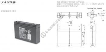 Acumulator VRLA Panasonic 6V 7.2 Ah cod LC-P067R2P (F187)1