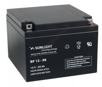 Acumulator VRLA SUNLIGHT 12V 26 Ah cod SPA 12-260