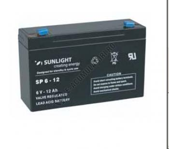 Acumulator VRLA SUNLIGHT 6V 12 Ah cod SPA 6-121