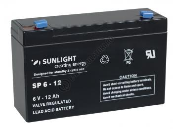 Acumulator VRLA SUNLIGHT 6V 12 Ah cod SPA 6-120