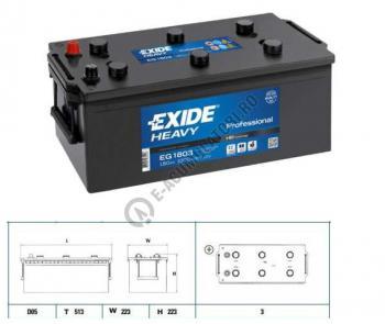 Baterie Auto EXIDE Professional 180 Ah cod EG18032