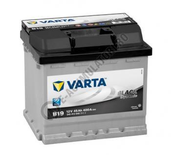 BATERIE AUTO VARTA BLACK 45 Ah cod B19 - 5454120403122 LOGAN BENZINA0