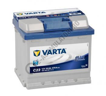 BATERIE AUTO VARTA BLUE 52 Ah cod C22 - 55240004731320