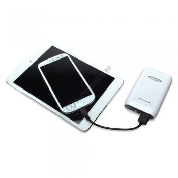 Acumulator extern Ednet Power Bank 6600mAh cod 318821
