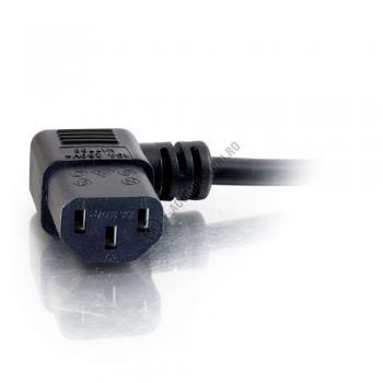 Cablu de alimentare C2G 16 AWG European 90° (IEC320C13 to CEE7/7) 2m 885342