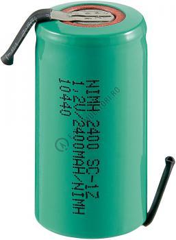 Acumulator Sub-C Goobay 2400 mAh 1.2V Ni-Mh cu lamele lipire cod 2336810