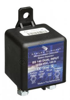 Separator automat de incarcare baterii 12/24V SAMLEX cod BS 140 DUAL1