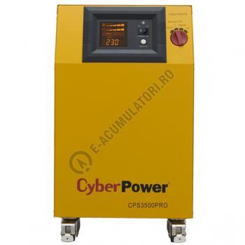 UPS unda pura sinusoidala pentru centrale termice si iluminat de urgenta Cyber Power CPS3500PRO 3500VA 2450W1