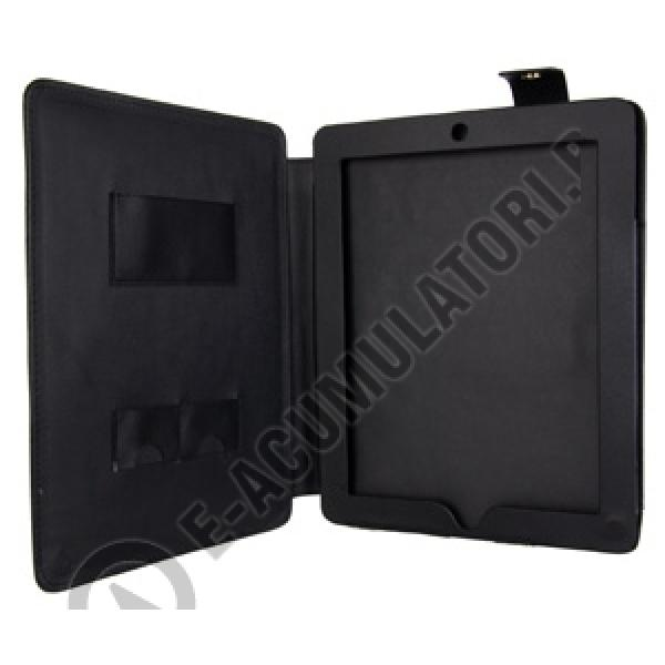 Leather Case with Stand for iPad 2 black-big