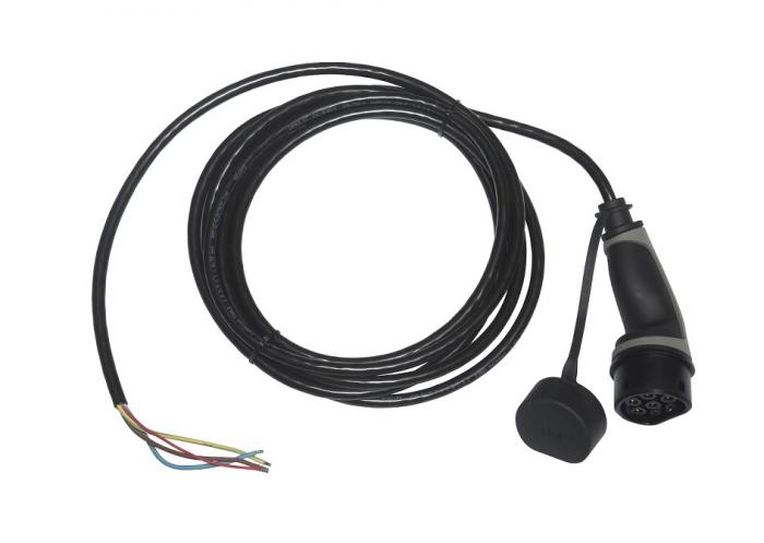 Cablu de încărcare tip 2 la capăt deschis, monofazat, 16A, 5 m-big