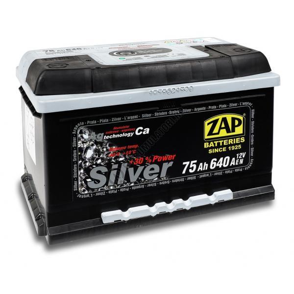 Baterie auto ZAP SILVER 75 Ah-big
