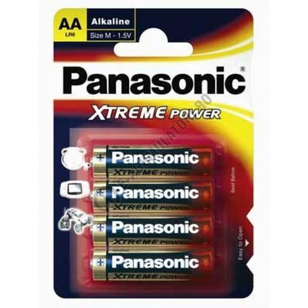 Baterie alcalina Panasonic AA, R6, blister de 4 buc-big