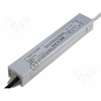 Sursa de alimentare pentru LED-uri de tensiune continua 5W, IP67, 12V; cod ZLV-05-12-big