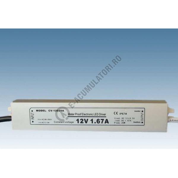 Sursa de alimentare pentru LED-uri de tensiune continua 15W; IP67; 12V ; cod ZLV-15-12-big
